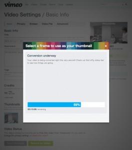 Vimeo エンコード中